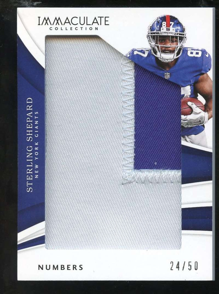 2018 Panini Immaculate Collection Numbers #73 Sterling Shepard /50 New York Giants