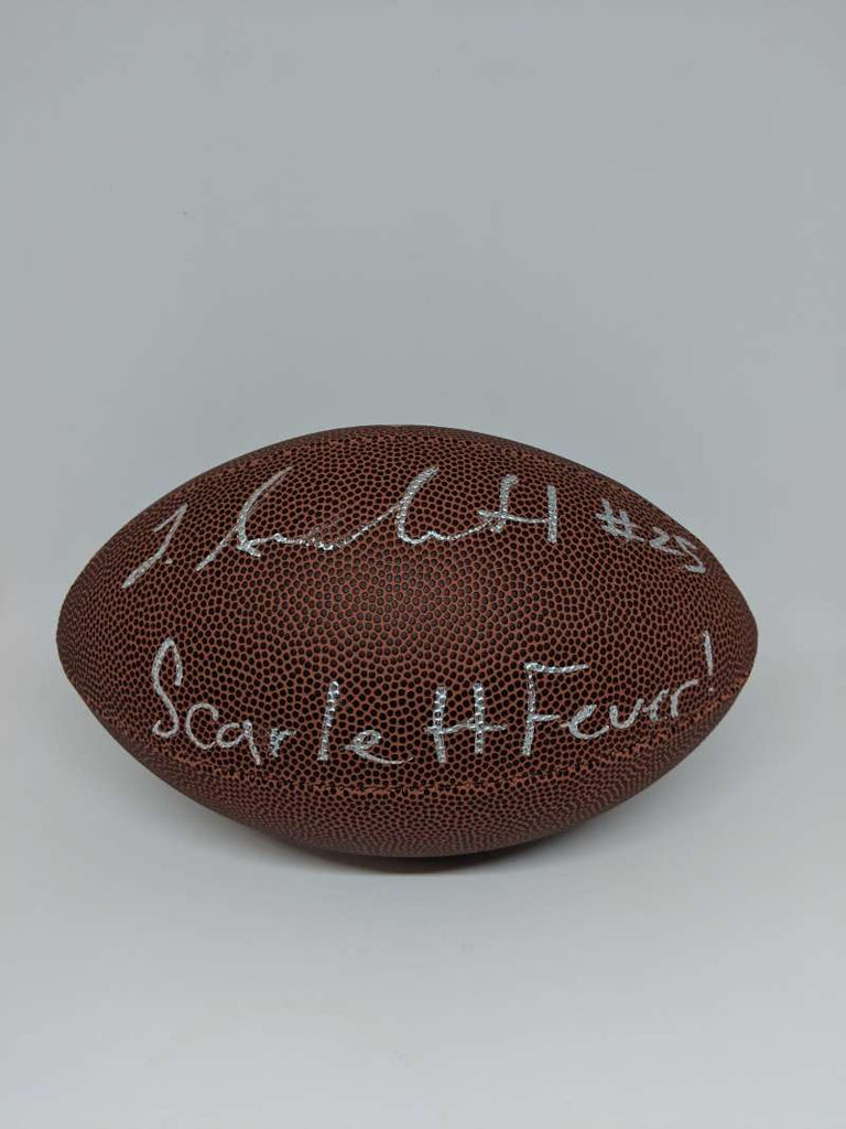 Jordan Scarlett Signed Autograph Auto Football NFL Mini JSA PSA COA Fever Inscription Silver Ink