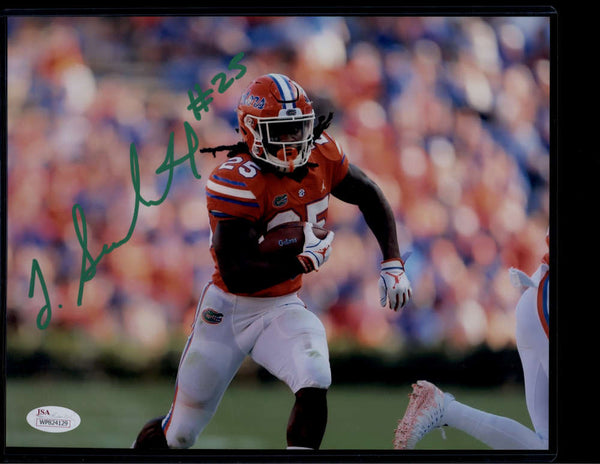 Jordan Scarlett Signed Autograph Auto Photo 8x10 Florida Gators JSA PSA COA Green Ink