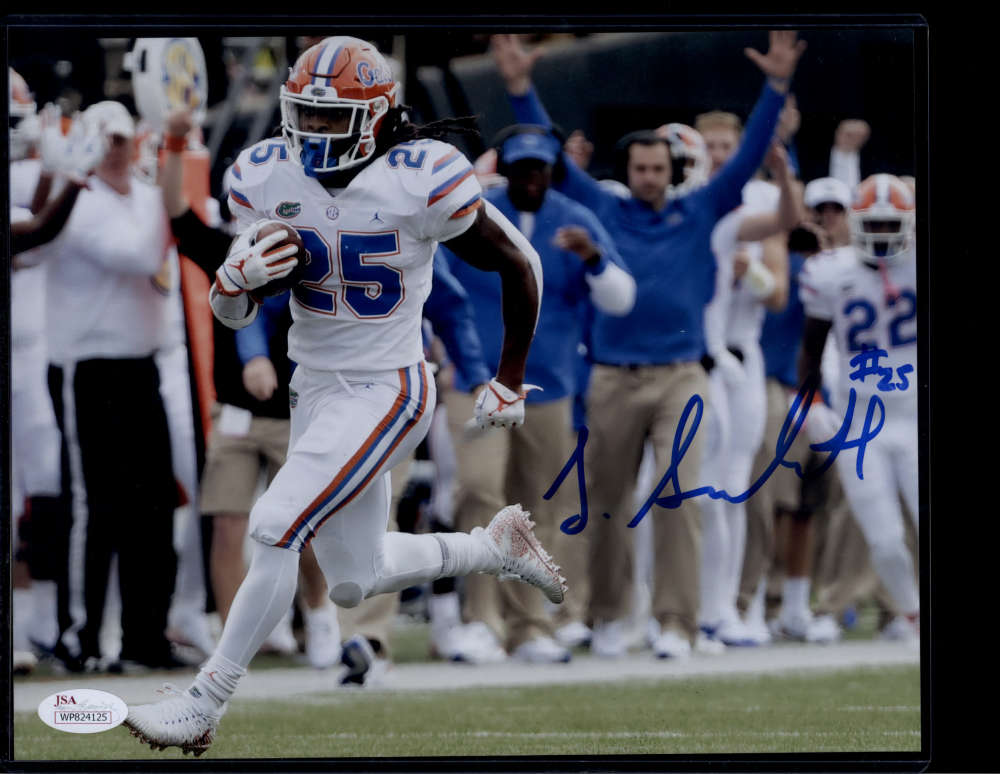 Jordan Scarlett Signed Autograph Auto Photo 8x10 Florida Gators JSA PSA COA Blue Ink