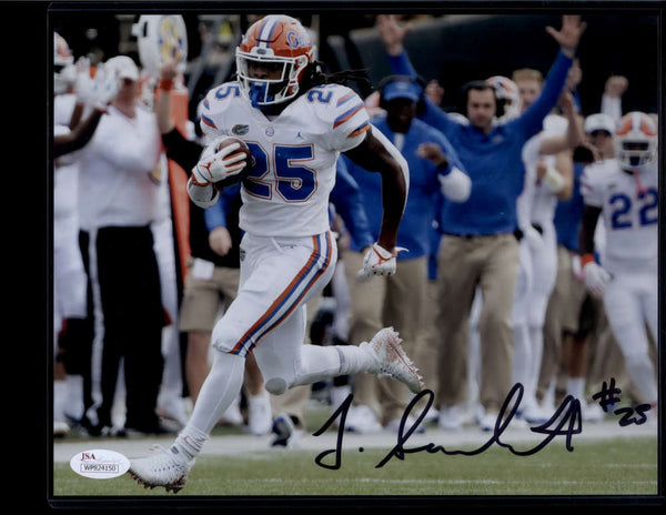 Jordan Scarlett Signed Autograph Auto Photo 8x10 Florida Gators JSA PSA COA Black Ink