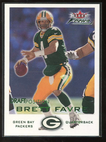 2000 Fleer Focus Draft Position #64 Brett Favre Mint /206 Green Bay Packers