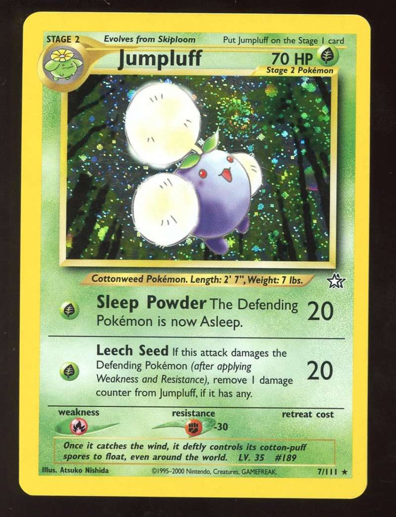 Jumpluff Holo Foil 1995-2000 Neo Genesis 7/111 Pokemon NM-MT