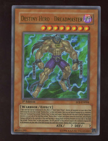 Destiny Hero - Dreadmaster Ultra Rare EOJ-EN004 1st Edition Yugioh! NM-MT