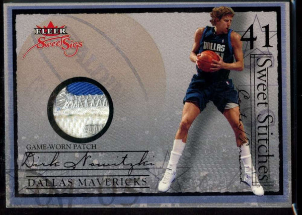 Dirk Nowitzki Jersey Patch /28 Sweet Stitches Fleer Ultra 2004-05 Mavericks