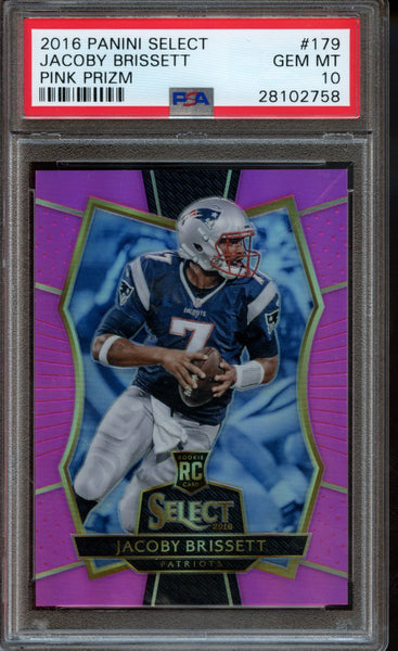 Jacoby Brissett Rookie RC Pink /15 Panini Select 2016 PSA 10 Patriots Colts