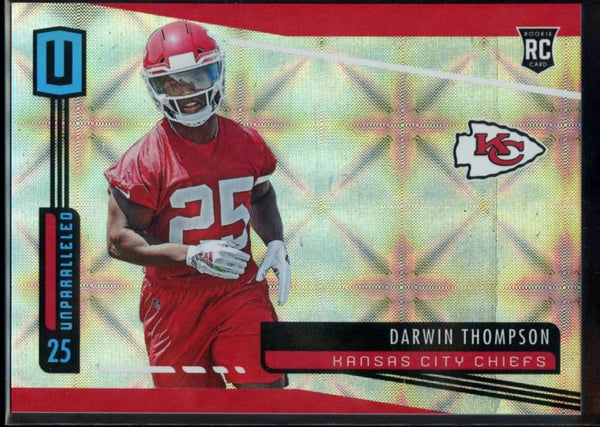 Darwin Thompson Rookie Galactic SSP Case Hit #286 Panini Unparalled 2019 Cheifs RC