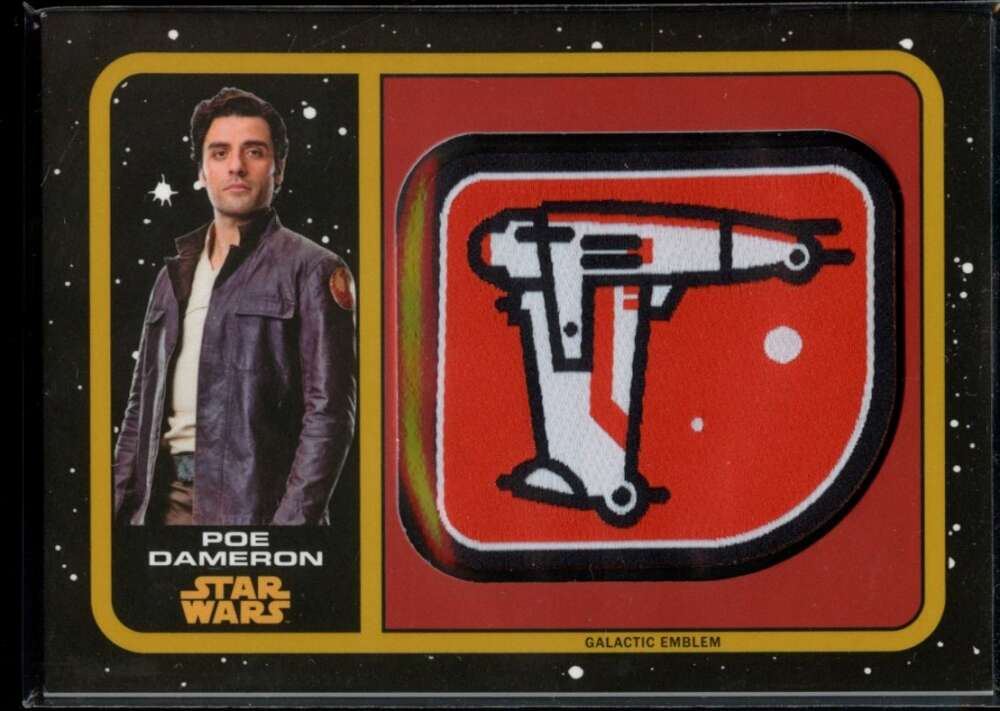 Poe Dameron Topps 2019 Star Wars The Last Jedi Emblem Patch #25/25 SP Bomber