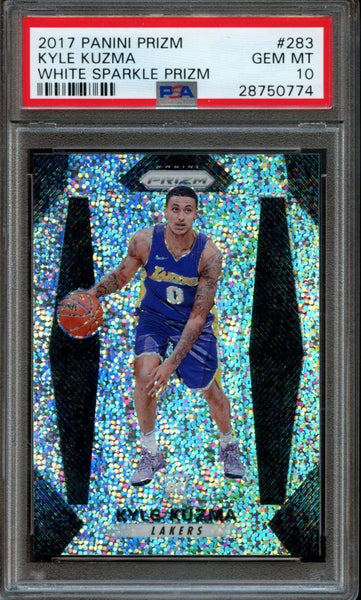 Kyle Kuzma White Sparkle SSP /20 PSA 10 POP 5 Prizm 2017-18 Lakers Rookie #283