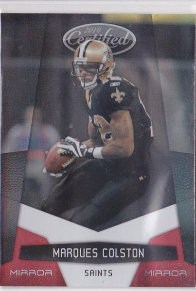 MARQUES COLSTON 2010 CERTIFIED #95 MIRROR RED #001/250 1/1 NEW ORLEANS SAINTS  G