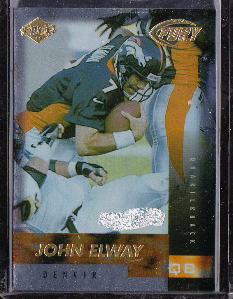 JOHN ELWAY 1999 COLLECTOR'S EDGE FURY #41 GALVANIZED SP #365/500 *BRONCOS* p1