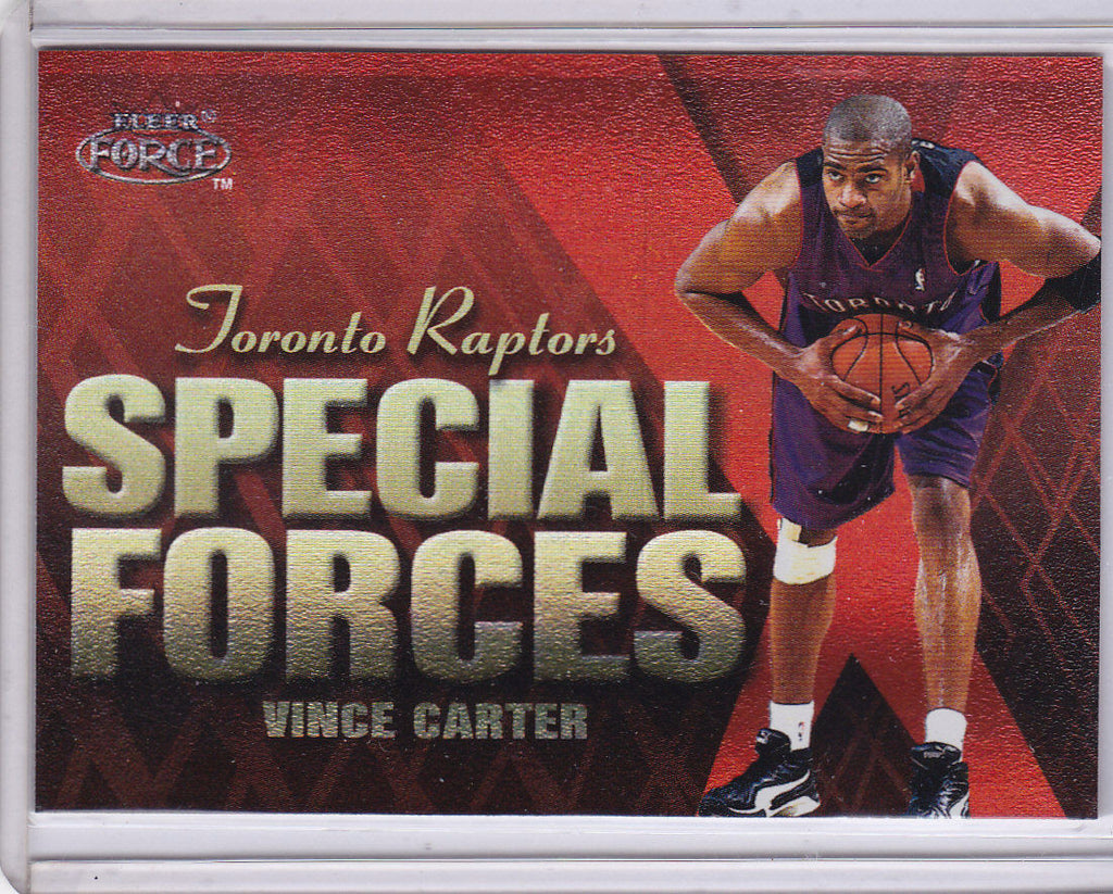 VINCE CARTER 1999-00 FLEER FORCE SPECIAL FORCES FORCEFIELD HOLO FOIL INSERT p1