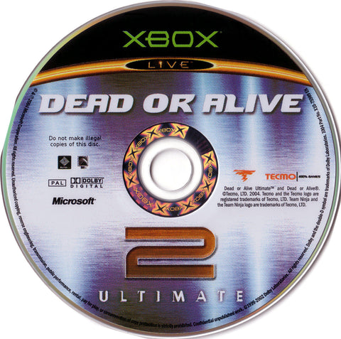 DEAD OR ALIVE 2 ULTIMATE [1 DISC] XBOX Video Fighting Game live 360 tecmo