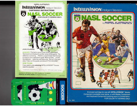 NASL SOCCER Video Game INTELLIVISION (1980) *1-2 Player* COMPLETE! 1