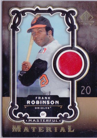 FRANK ROBINSON 2007 UD SP LEGENDARY CUTS GAME USED JERSEY PATCH *HALL OF FAME* J
