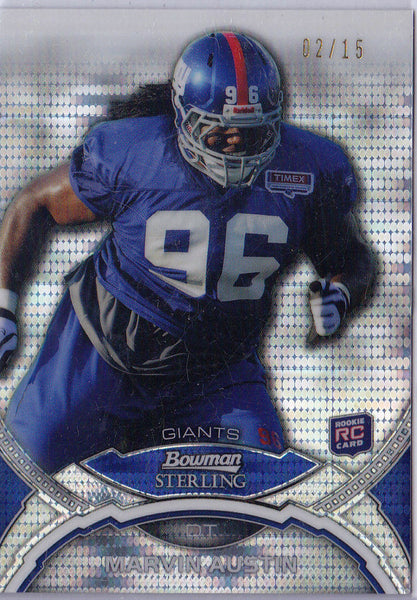 MARVIN AUSTIN 2011 TOPPS RR RISING ROOKIES #148 GREEN PARALLEL /25 *GIANTS* h7