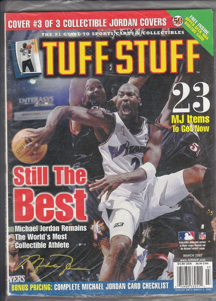MICHAEL JORDAN Tuff Stuff Card Price Guide Magazine (March 2002) *BRAND NEW* 2