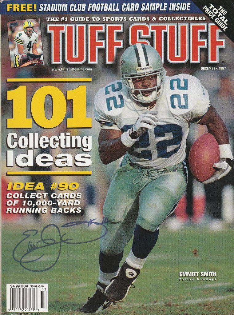 EMMITT SMITH Tuff Stuff Card Price Guide Magazine (December 1997) DAL COWBOYS 2