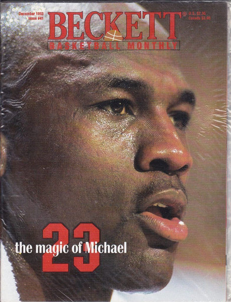 MICHAEL JORDAN Basketball Beckett Price Guide Magazine (December 1993, #41) 2