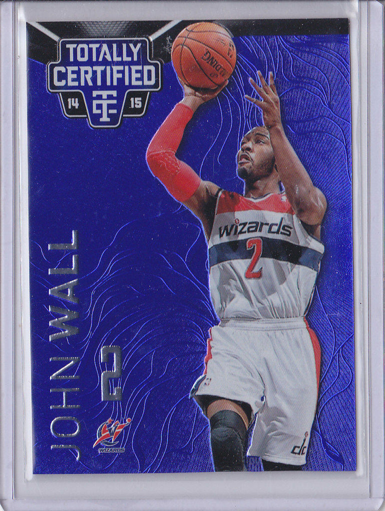 JOHN WALL 2014-15 PANINI TOTALLY CERTIFIED #92 BLUE FOIL SP #022/149 *WIZARDS* b