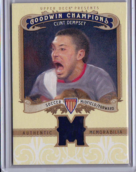 CLINT DEMPSEY 2012 UD GOODWIN CHAMPIONS SP GAME USED JERSEY RELIC PATCH *USA* k