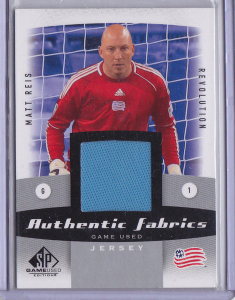 WILLIAM HESMER 2011 UD MLS SP GAME USED JERSEY PATCH AUTHENTIC FABRICS *CREW* h