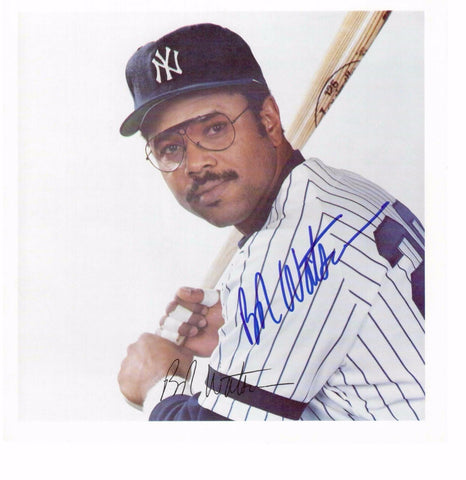 BOB WATSON 8X8 COLOR AUTOGRAPH PHOTO AUTO *NY YANKEES - FIRST BASE/LEFT FIELD* a