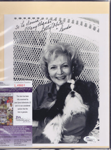 BETTY WHITE SIGNED 8x10 PHOTO INSCRIPTION JSA COA JG AUTHENTIC AUTO AUTOGRAPH