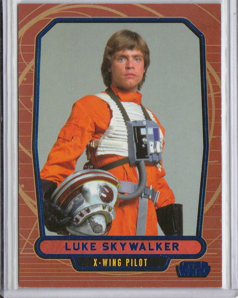 LUKE SKYWALKER 2012 TOPPS STAR WARS #481 GALACTIC FILES #102/350 BLUE FOIL SP 1