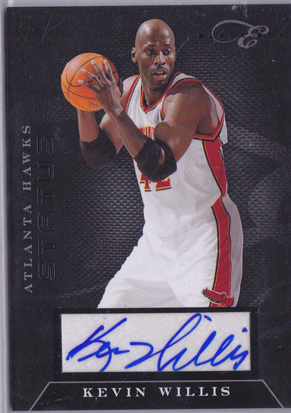 KEVIN WILLIS 2010-11 BLACK BOX ELITE STATUS AUTO SP/149 *ATL HAWKS LEGEND* L2