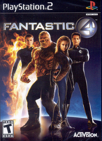FANTASTIC FOUR 4 (2005) PS2 Sony Playstation Video Game *Official Movie Game* I4