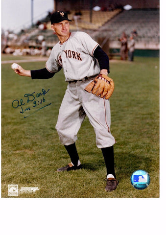 AL DARK 8X10 COLOR AUTOGRAPH PHOTO AUTO *NEW YORK GIANTS - SHORTSTOP* a