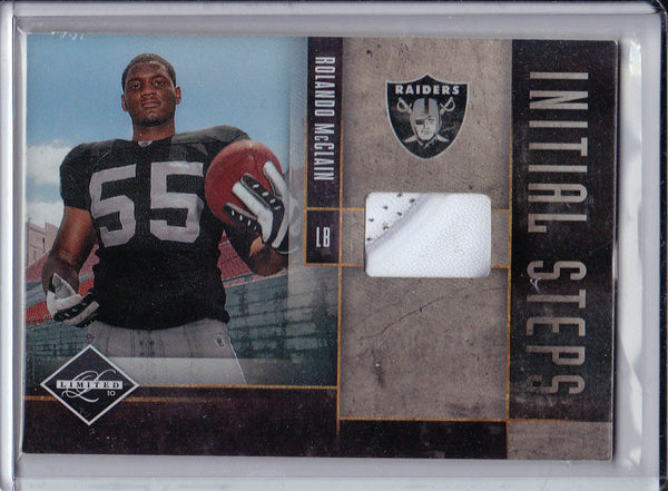 ROLANDO MCCLAIN 2010 BOWMAN STERLING RC ROOKIE REFRACTOR SP JERSEY PATCH /299 k