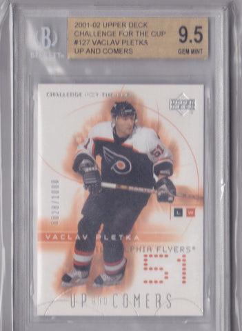 VACLAV PLETKA 2001-02 Upper Deck CHALLENGE 4 CUP ROOKIE RC /1000 BGS 9.5 GEM MINT H3