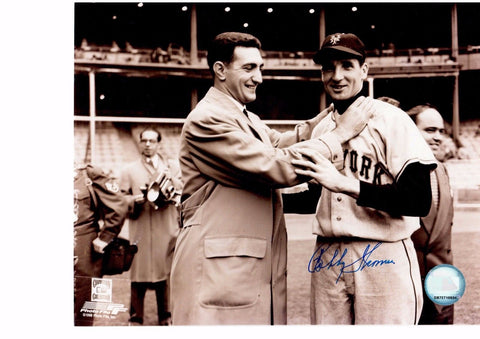 BOBBY THOMSON 8X10 B/W AUTOGRAPH PHOTO AUTO *NEW YORK GIANTS - OUTFIELDER* a
