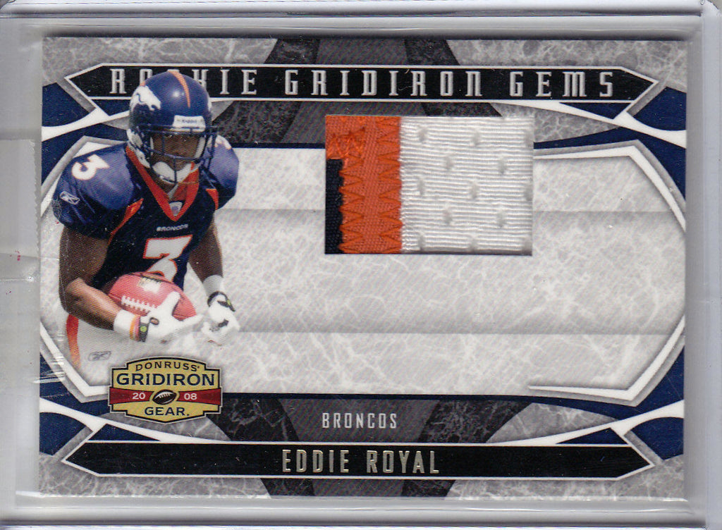 EDDIE ROYAL 2009 GRIDIRON GEAR ROOKIE GEMS RC 3 COLOR JERSEY PATCH SP #29/50 K1