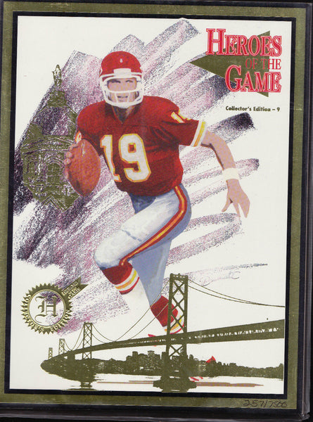 JOE MONTANA HEROES OF THE GAME (1994) MAGAZINE COLLECTOR'S EDITION #257/7500 a