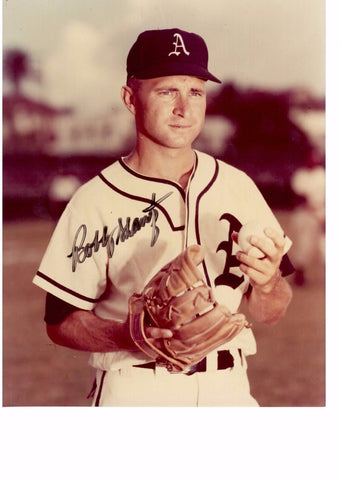 BOBBY SHANTZ 8X10 COLOR AUTOGRAPH PHOTO AUTO *ATHLETICS - PITCHER* a