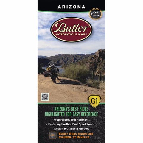 Butler Motorcycle Maps Arizona G1 Map