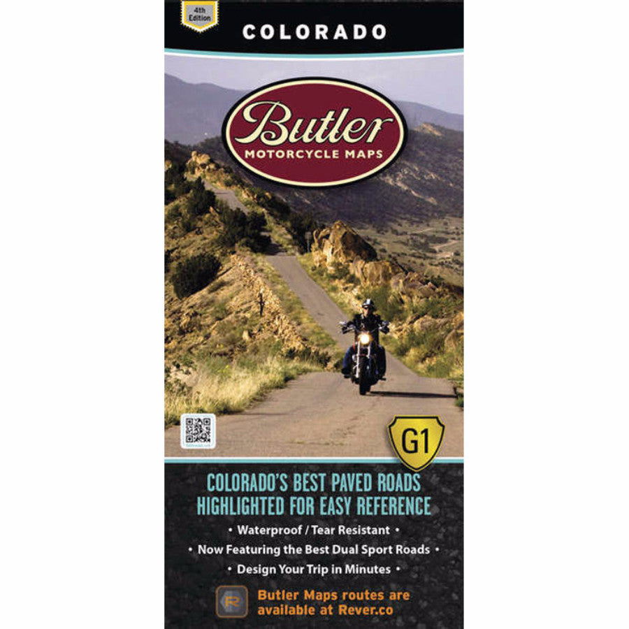 Butler Motorcycle Maps Colorado G1 Map by Atomic-Moto