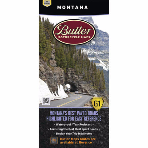 Butler Motorcycle Maps Montana G1 Map