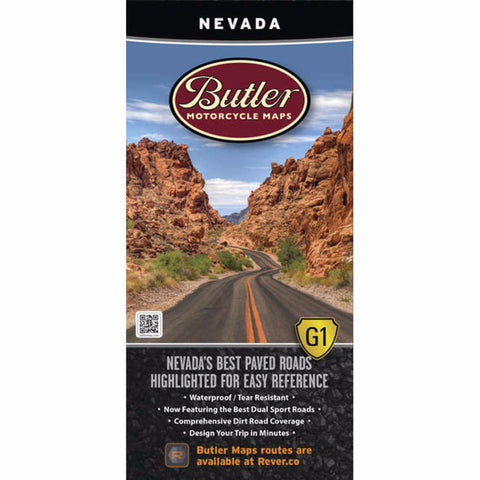 Butler Motorcycle Maps Nevada G1 Map