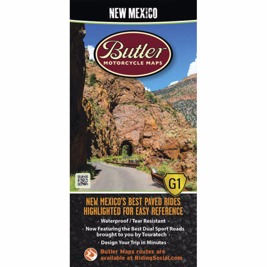 Butler Motorcycle Maps New Mexico BDR Map