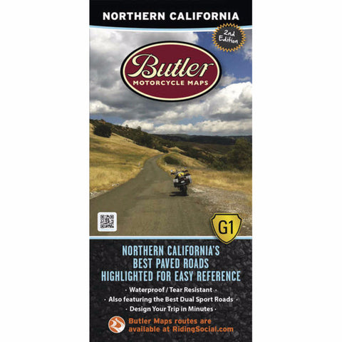Butler Motorcycle Maps Northern California G1 Map