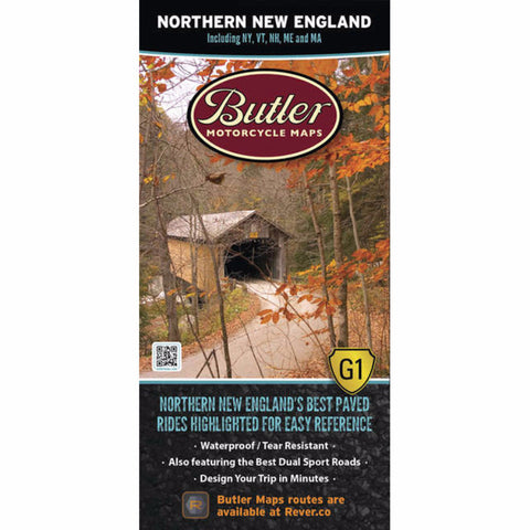Butler Motorcycle Maps Northern New England G1 Map