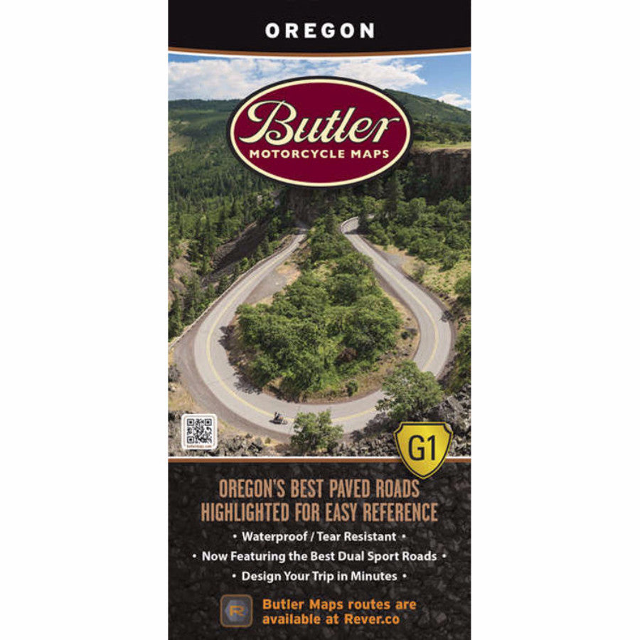 Butler Motorcycle Maps Oregon G1 Map