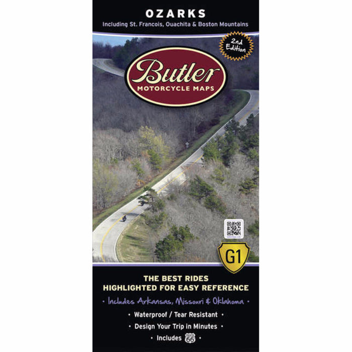 Butler Motorcycle Maps Ozarks G1 Map