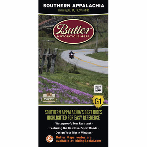 Butler Motorcycle Maps Southern Appalachia G1 Map