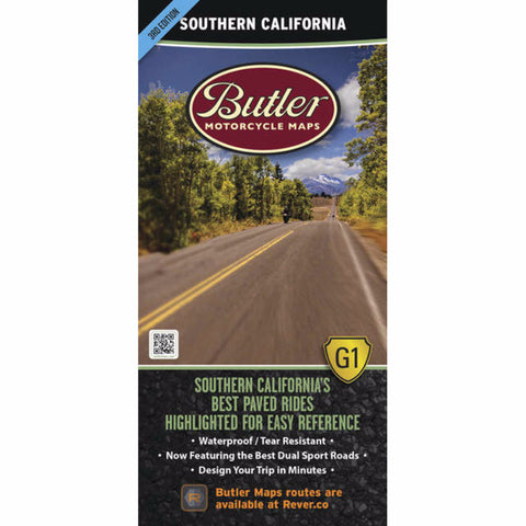 Butler Motorcycle Maps South California G1 Map