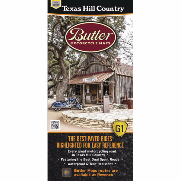Butler Motorcycle Maps Texas Hill Country G1 Map